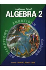 McDougal Littell Algebra 2  Worked-out Solution Key-9780618020249