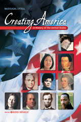 Creating America: Beginnings through Reconstruction  Reading Study Guide (Spanish)-9780618194223
