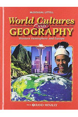 World Cultures & Geography: Western Hemisphere and Europe  Workbook-9780618217267