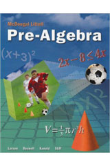 McDougal Littell Pre-Algebra  Teacher's Edition-9780618250042