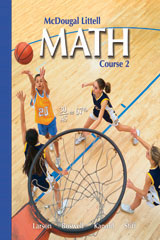 McDougal Littell Middle School Math, Course 2  Practice Workbook, Student Edition-9780618257553