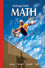 McDougal Littell Middle School Math, Course 1  Assessment Book-9780618260836