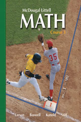 McDougal Littell Middle School Math, Course 3  Resource Book Chapter 8-9780618268900