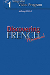 Discovering French, Nouveau!  Integrated DVD Program Level 1-9780618345182