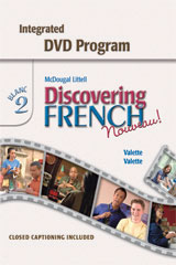 Discovering French, Nouveau!  Integrated DVD Program Level 2-9780618345236