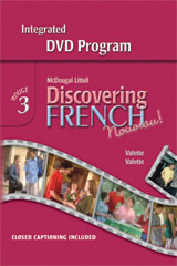 Discovering French, Nouveau!  Integrated DVD Program Level 3-9780618345298
