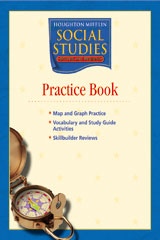 Houghton Mifflin Social Studies  Practice Book Level 4 States and Regions-9780618438310