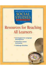 Houghton Mifflin Social Studies  Resources Research All Learn Blackline Masters Grade 4 States and Regions-9780618438570