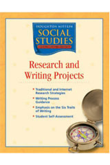 Houghton Mifflin Social Studies  Research & Writing Projects Blackline Masters Grade 4 States and Regions-9780618438679