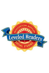Houghton Mifflin Social Studies Leveled Readers  Leveled Reader (6 copies, 1 Teacher's Guide) Level O Communities: Traveling by Train-9780618490844