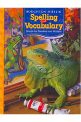 Houghton Mifflin Spelling and Vocabulary  Consumable Student Book Grade 5-9780618491964