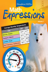 Math Expressions  Student Activity Book (2 volumes) Grade 4-9780618509874