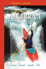 McDougal Littell Algebra 1  Teacher's Edition-9780618595563