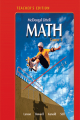 McDougal Littell Math Course 1  Teacher's Edition-9780618638208
