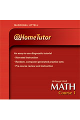 McDougal Littell Math Course 1  @Home Tutor CD-ROM-9780618656677