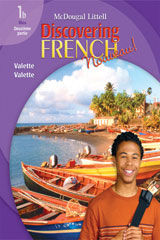 Discovering French, Nouveau!  Workbook with Lesson Review Bookmarks Level 1B-9780618661763