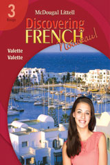 Discovering French, Nouveau!  Workbook with Lesson Review Bookmarks Level 3-9780618661770
