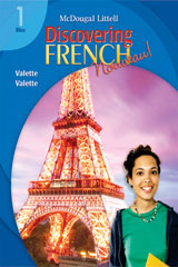 Discovering French, Nouveau!  Lesson Review Bookmarks Bleu Level 1-9780618680412