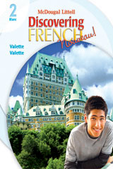Discovering French, Nouveau!  Lesson Review Bookmarks Blanc Level 2-9780618680429