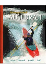 Holt McDougal Larson Algebra 1  Transparency Book Chapter 1-9780618735570