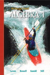 Holt McDougal Larson Algebra 1  Transparency Book: Chapter 4-9780618735600