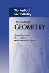 Holt McDougal Larson Geometry  Worked-Out Solutions Key-9780618736645