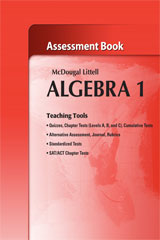 Holt McDougal Larson Algebra 1  Assessment Book-9780618736669