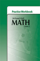 McDougal Littell Math Course 3  Practice Workbook-9780618741984