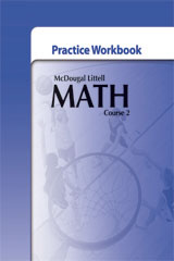 McDougal Littell Math Course 2  Practice Workbook-9780618746385