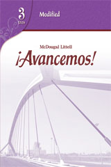 ¡Avancemos!  Modified Assessment Level 3-9780618753338