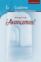 ¡Avancemos!  Cuaderno: Practica por niveles (Student Workbook) with Review Bookmarks Level 1A-9780618782154