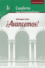 ¡Avancemos!  Cuaderno: Practica por niveles (Student Workbook) with Review Bookmarks Level 1B-9780618782178
