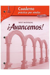 ¡Avancemos!  Cuaderno: Practica por niveles (Student Workbook) with Review Bookmarks Level 1-9780618782185