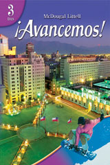 ¡Avancemos!  AvanzaComics with Fill-In Comic Book Level 3-9780618803484