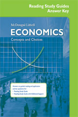 Economics: Concepts and Choices  Reading Study Guide Answer Key-9780618815302