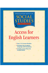 Houghton Mifflin Social Studies Nevada Access for English Learners Teacher Guide Grade 3-9780618844555
