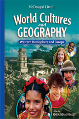 McDougal Littell Middle School World Cultures and Geography  Student Edition Western Hemisphere and Europe-9780618887361