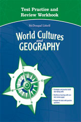 McDougal Littell Middle School World Cultures and Geography  Test Practice Workbook-9780618887439