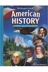 American History: Beginnings through Reconstruction  Test Practice and Review Workbook Answer Key-9780618893591