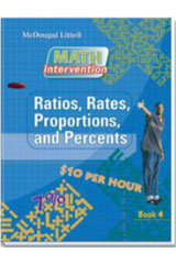 Algebra Readiness  Book Ratios, Rates, Proportions, and Percents-9780618900619