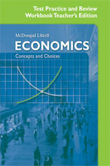 Economics: Concepts and Choices Test Practice and Review Workbook Answer Key