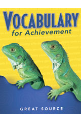 Vocabulary for Achievement Teacher's Edition Grade 3