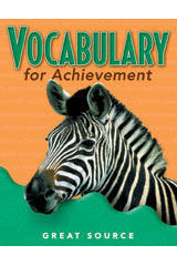 Vocabulary for Achievement Teacher's Edition Grade 5