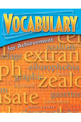 Vocabulary for Achievement  Teacher's Edition Grade 7 First Course-9780669517620