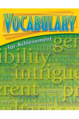 Vocabulary for Achievement  Student Book 5-Pack Grade 8 (Second Course)-9780669520453