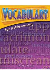 Vocabulary for Achievement Student Book 5-Pack Grade 10 (Fourth Course)