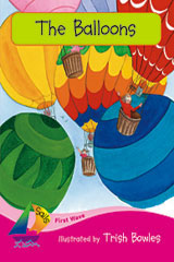 Rigby Sails Emergent First Wave Satellite  Leveled Reader 6pk Magenta The Balloons-9780757868627