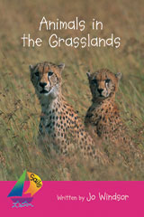 Rigby Sails Emergent Satellite  Leveled Reader 6pk Magenta Animals in the Grasslands-9780757879425