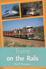 Rigby PM Plus  Individual Student Edition Turquoise (Levels 17-18) Trains on the Rails-9780763574383