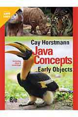 Horstmann, Java Concepts Early Objects, Eighth Edition  Student Edition Grades 9-12-9781119582106
